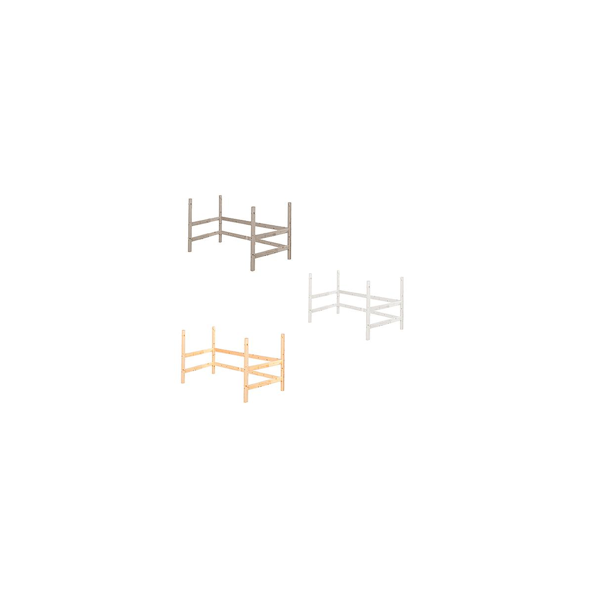Estructura elevación Cama alta 140x190 CLASSIC Flexa blanco cal