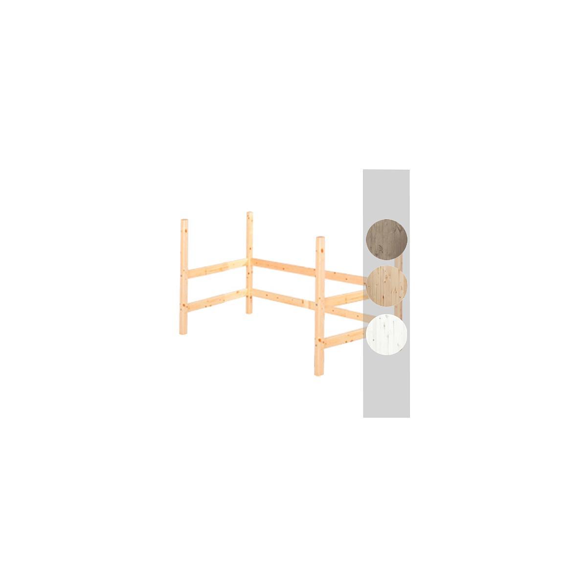 Estructura elevación Cama alta 90x200 CLASSIC Flexa blanco cal