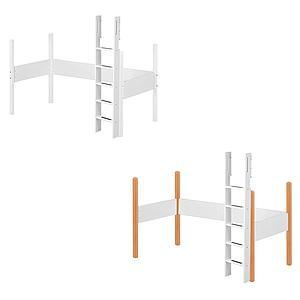 Estructura patas y escalera Cama alta 90x190 WHITE Flexa blanca