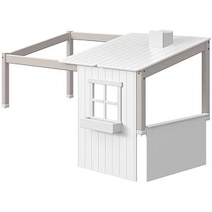 Estructura techo cama cabaña 190 cm 1/2 PLAY HOUSE CLASSIC flexa grey washed-blanco