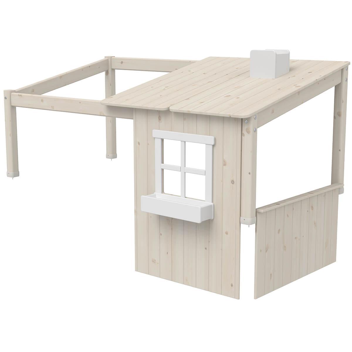 Estructura techo cama cabaña 190cm 1/2 PLAY HOUSE CLASSIC Flexa blanco cal