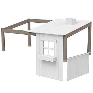 Estructura techo cama cabaña 190cm 1/2 PLAY HOUSE CLASSIC Flexa terra-blanco