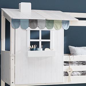 Estructura techo cama cabaña 200cm 1/2 PLAY HOUSE CLASSIC Flexa terra-blanco