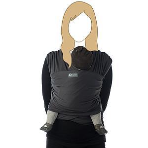Fular portabebé TRICOT-SLEN ORGANIC Babylonia dark grey