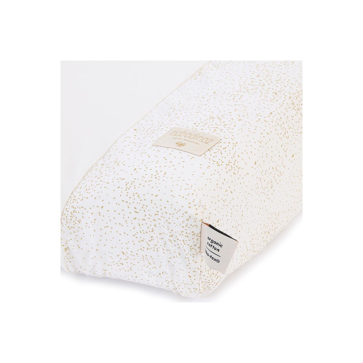Funda colchón cambiador 70x50cm CALMA ELEMENTS Nobodinoz gold bubble-white