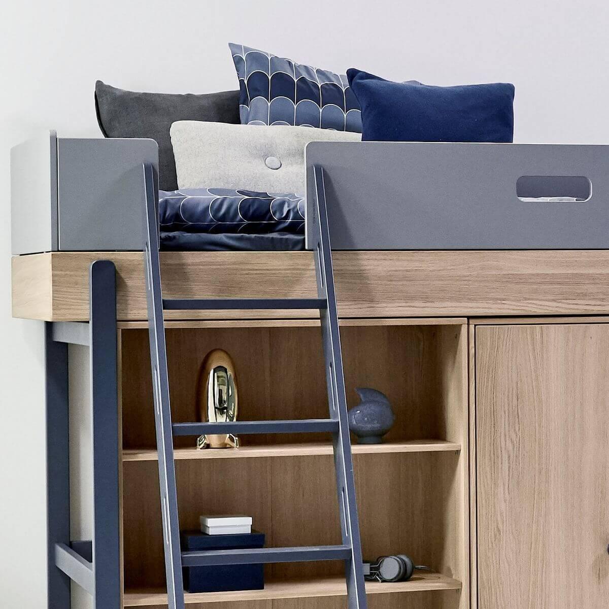 Funda nórdica 140x200cm-almohada 60x63cm POPSICLE Flexa blueberry