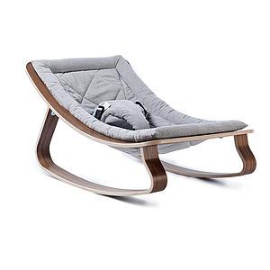 Hamaca bebé LEVO Charlie Crane nogal-sweet grey