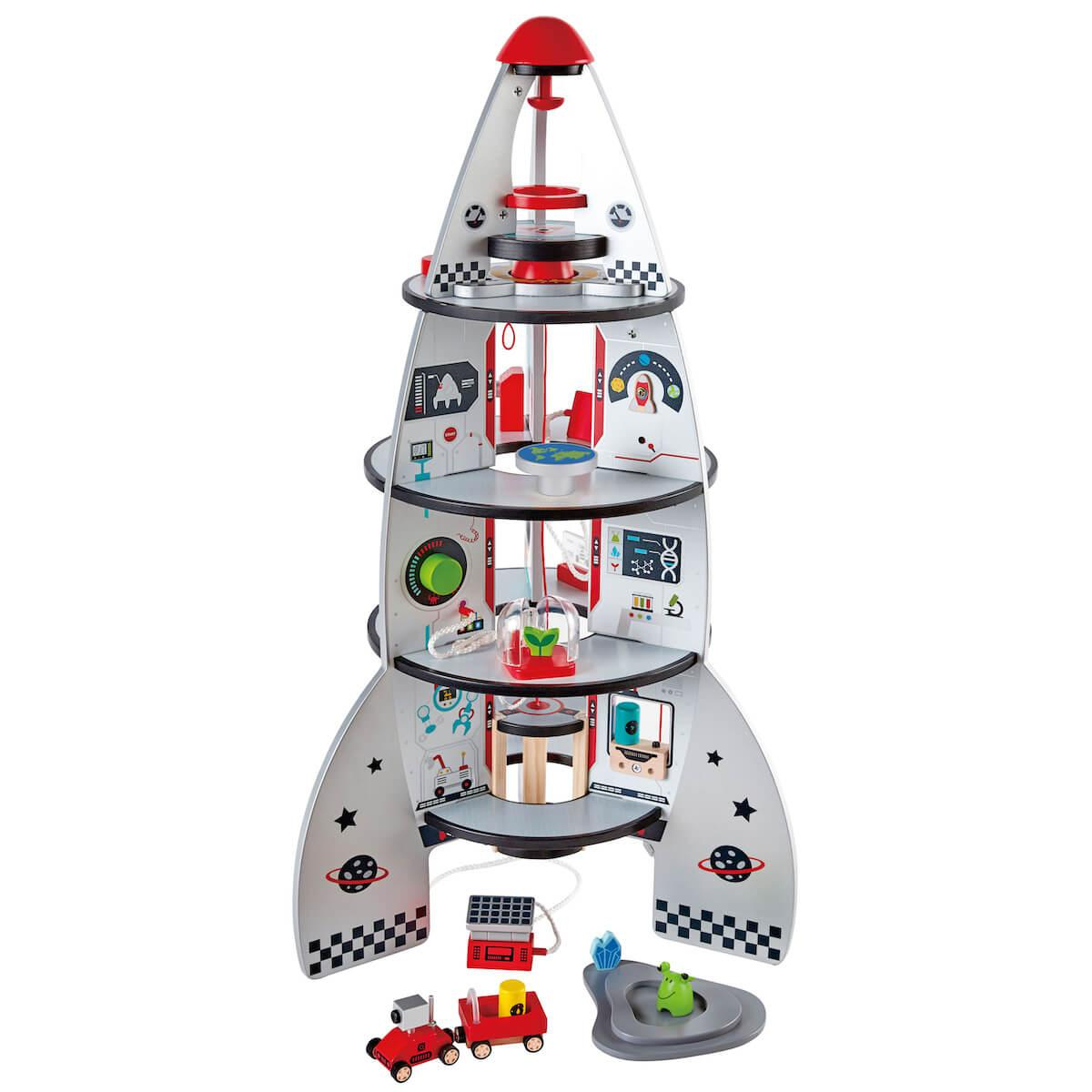 Juego construction FOUR-STAGE ROCKET SHIP Hape