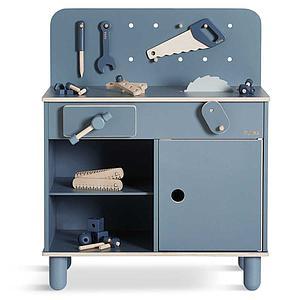 Juego imitación banco de trabajo PLAY Flexa dark blue-natural wood