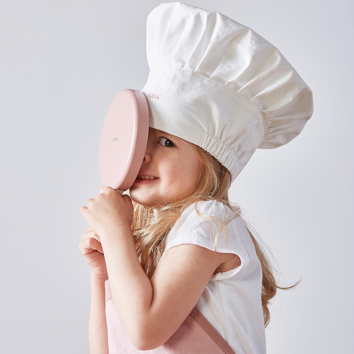 Juego imitación disfraz chef PLAY Flexa light rosa-white