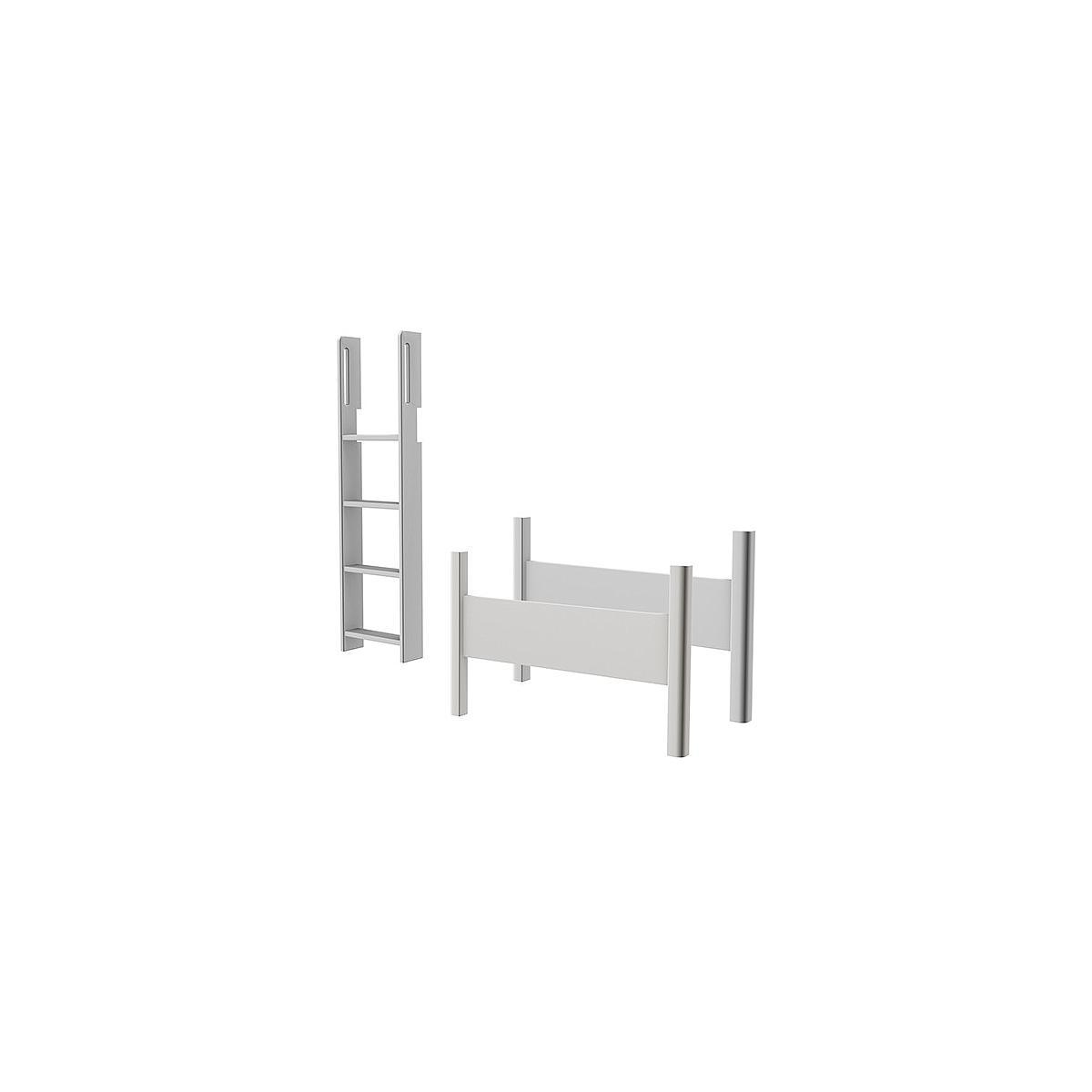 Kit elevación Cama semi alta WHITE Flexa escalera recta blanco