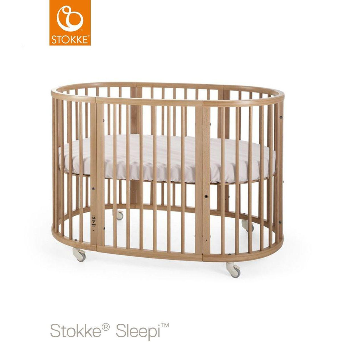 Kit extensión cuna-colchón SLEEPI Stokke natural
