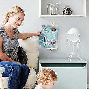 Lámpara mesa MONTY Flexa blanca