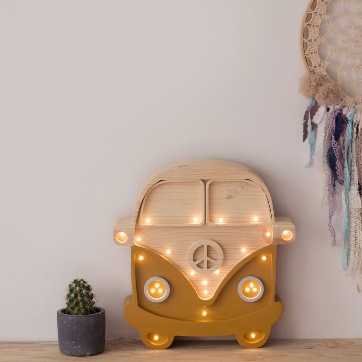 Lámpara VAN Little Lights mustard-wood