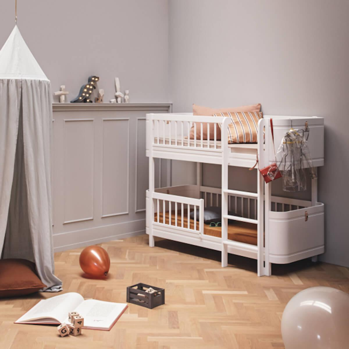 Litera 68x162cm WOOD MINI+ Oliver Furniture blanco
