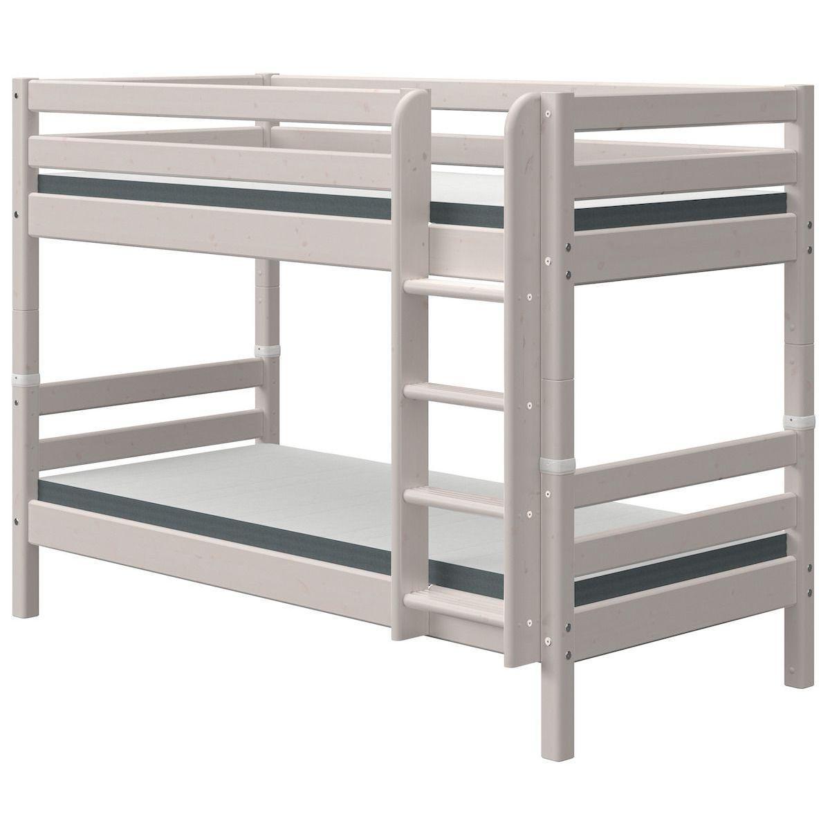 Litera 90x190cm escalera recta CLASSIC Flexa grey washed