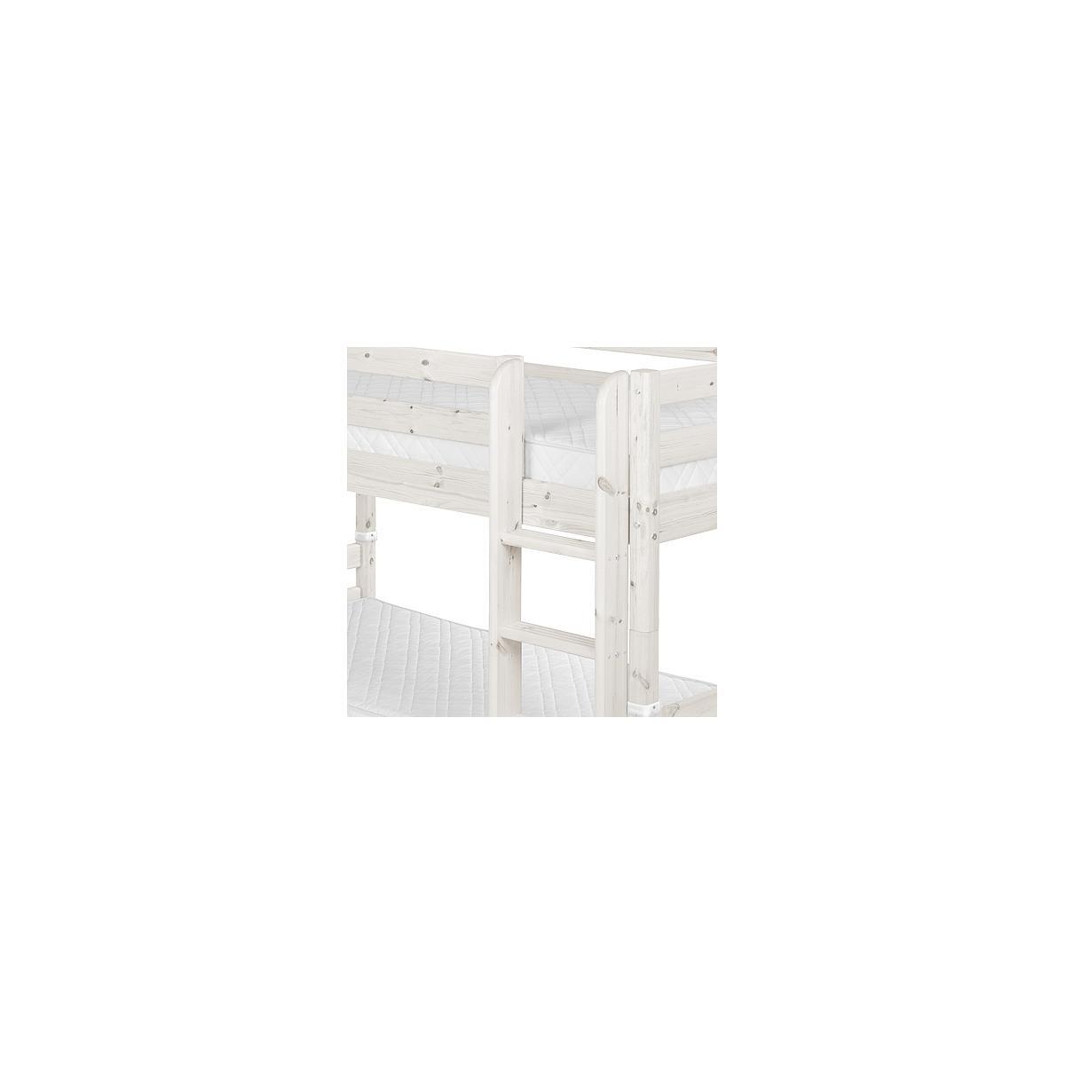 Litera 90x200 CLASSIC Flexa escalera inclinada blanco cal