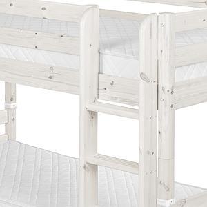Litera 90x200 CLASSIC Flexa escalera recta blanco cal