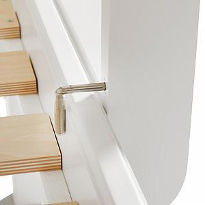 Litera 90x200 cm escalera recta SEASIDE Oliver Furniture blanco