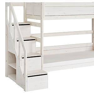 Litera 90x200cm escalera cajones Lifetime blanqueado