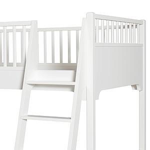 Litera 90x200cm escalera inclinada SEASIDE CLASSIC Oliver Furniture blanco