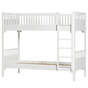 Litera 90x200cm escalera recta SEASIDE CLASSIC Oliver Furniture blanco