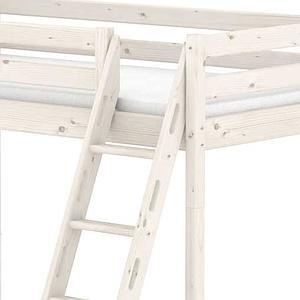 Litera combi 140/90x190 CLASSIC Flexa escalera inclinada blanco cal