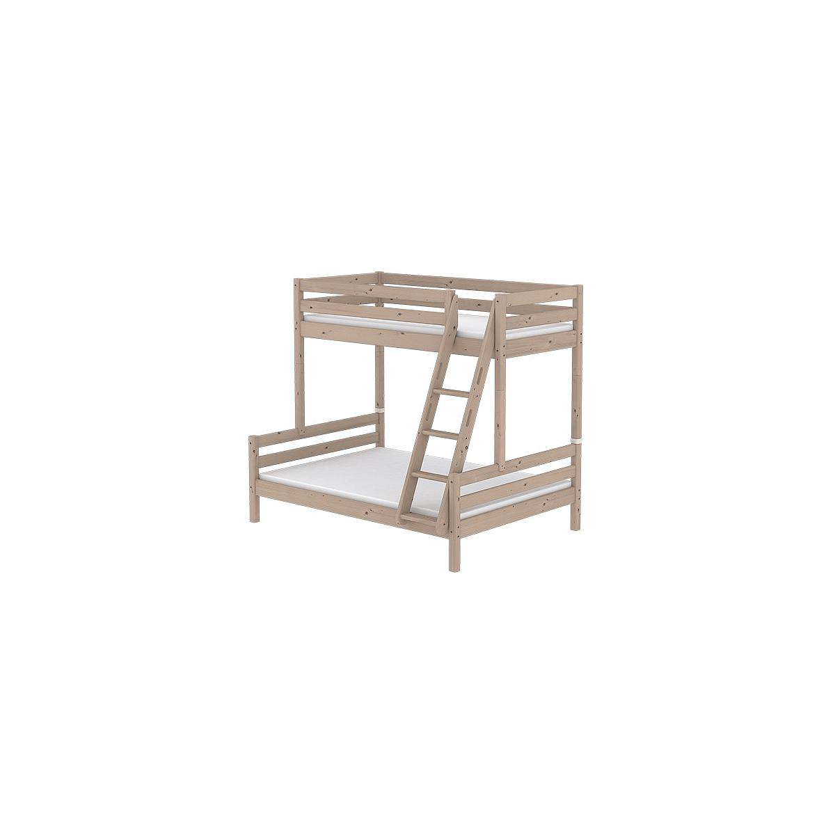 Litera combi 140/90x190 CLASSIC Flexa escalera inclinada terra
