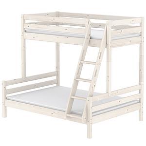Litera combi 140/90x200 CLASSIC Flexa escalera inclinada blanco cal