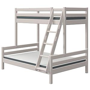 Litera combi 140/90X200cm escalera inclinada CLASSIC Flexa grey washed