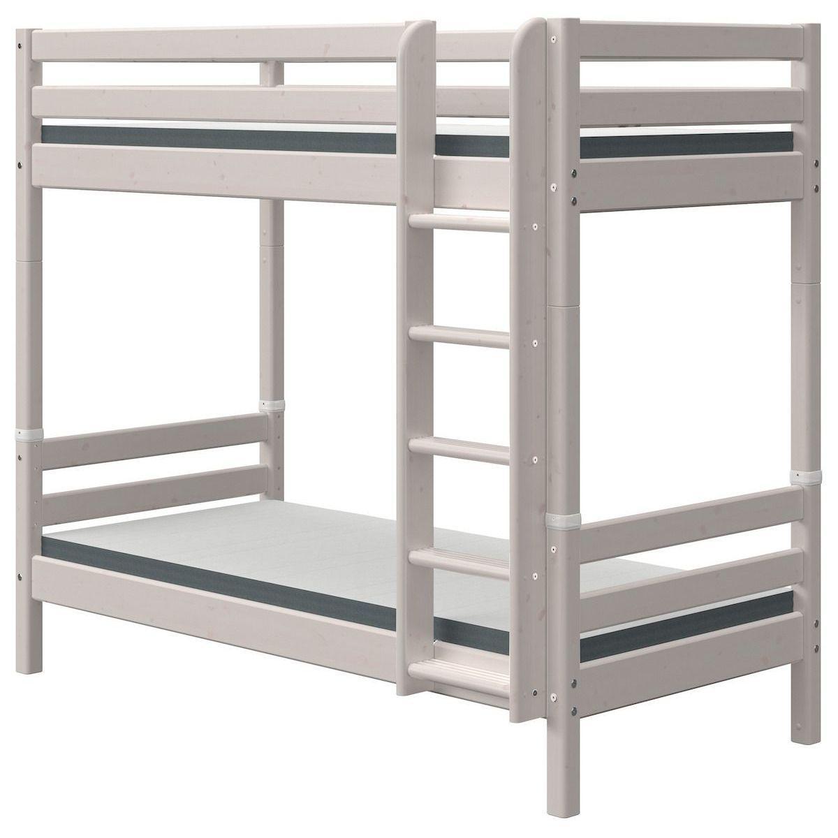 Litera extra alta 90x190cm escalera recta CLASSIC Flexa grey washed