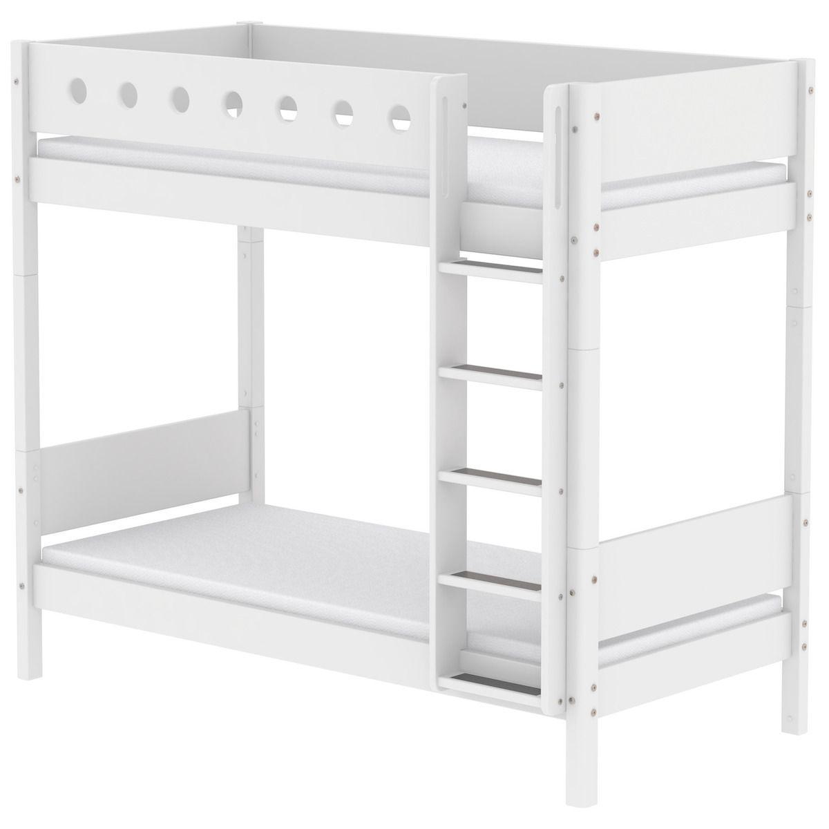 Litera infantil Maxi 90x190cm-escalera recta WHITE Flexa blanco