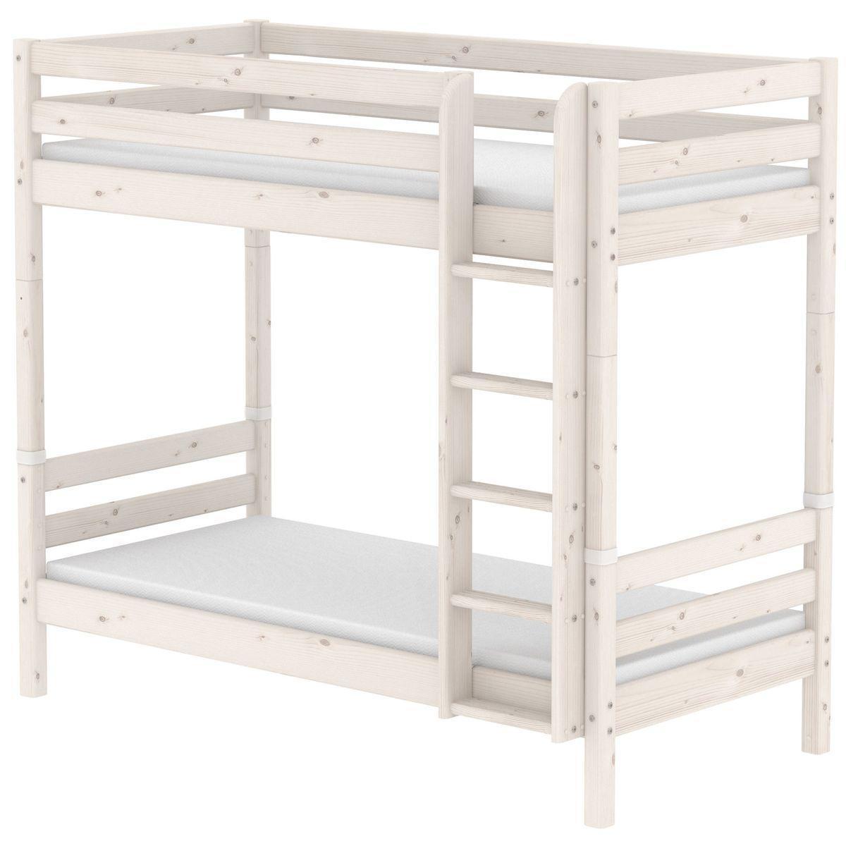 Litera infantil Maxi 90x200cm-escalera recta CLASSIC Flexa blanco cal