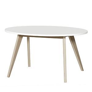 Mesa infantil Pingpong WOOD Oliver Furniture blanco-roble