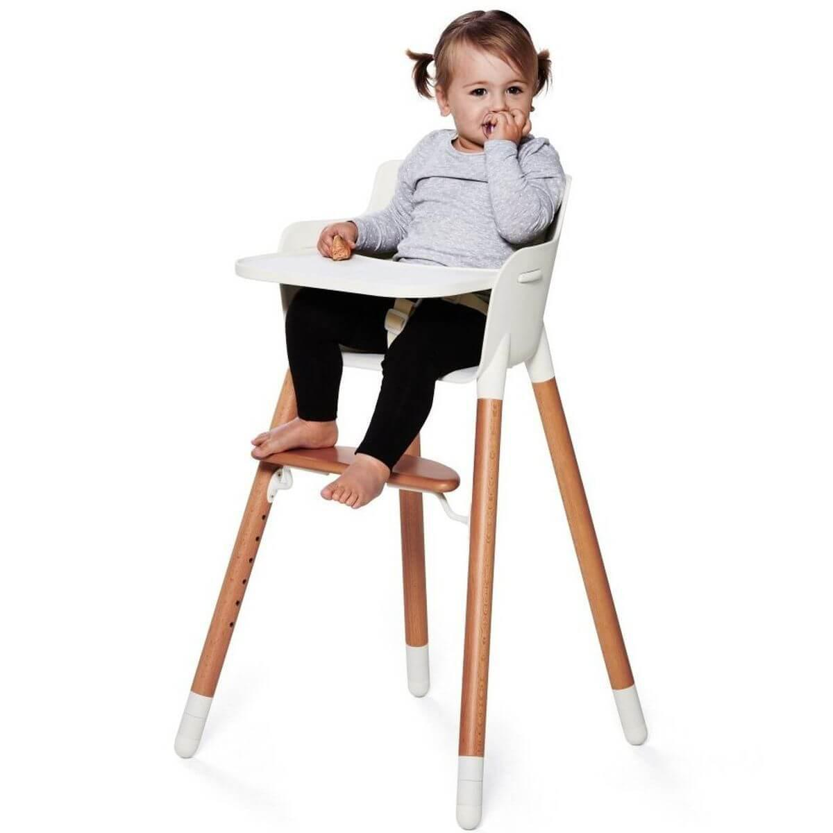 Mesa Trona bebé BABY Flexa blanca