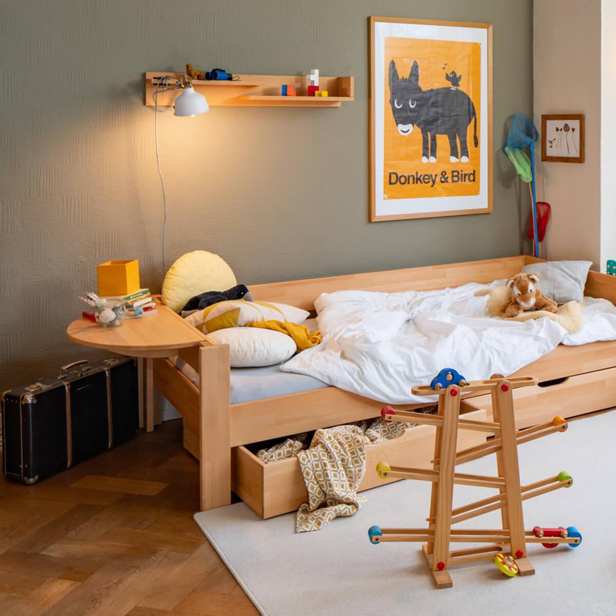 Mesita cama DESTYLE de Breuyn haya aceitada
