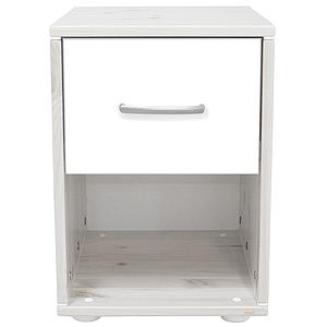 Mesita de noche infantil 1 cajón NEW CLASSIC Flexa blanco cal - blanco - blanco