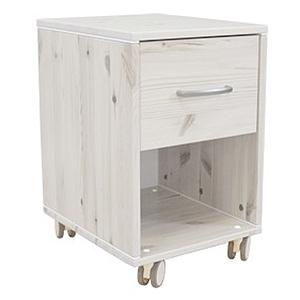 Mesita de noche infantil 1 cajón NEW CLASSIC Flexa blanco cal - blanco cal - blanco