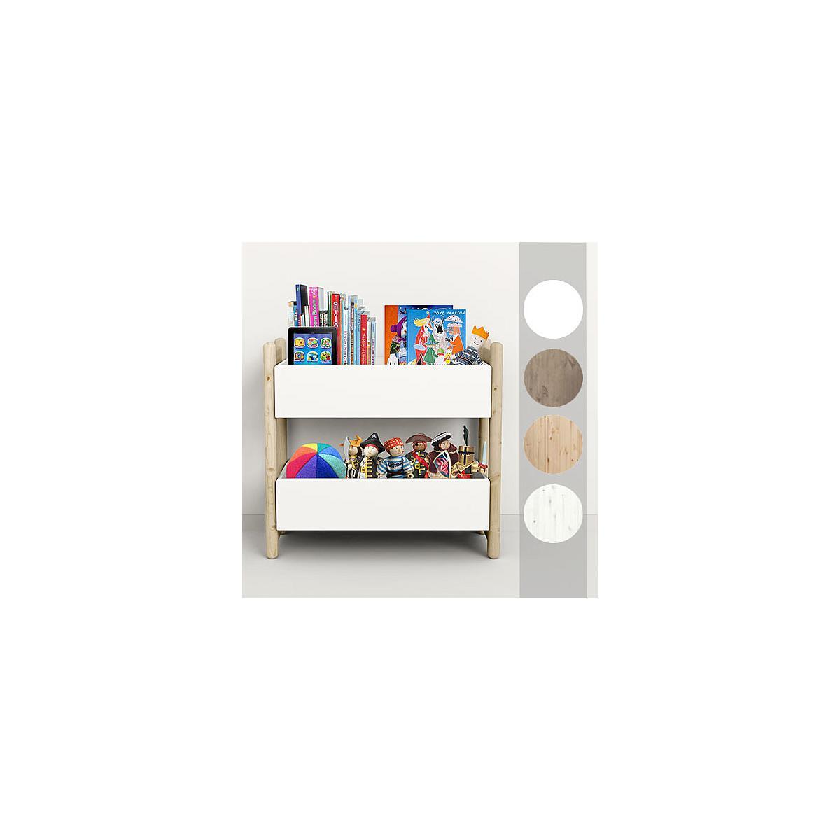 Mini E - Organizador 2 estantes 74 cm SHELFIE Flexa blanco