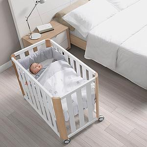 Minicuna colecho-colchón 50x90cm DOCO Cotinfant blanco-natural