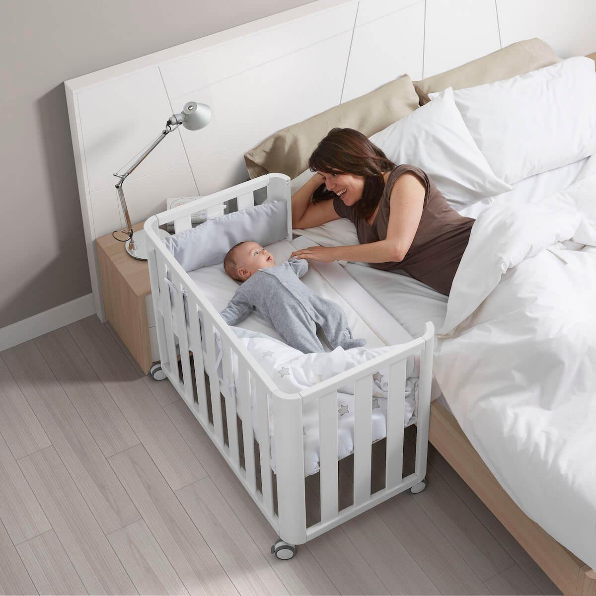 Minicuna colecho-colchón 50x90cm DOCO Cotinfant blanco