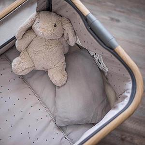 Minicuna colecho roble COZEE Air Tutti Bambini antracita-lunares