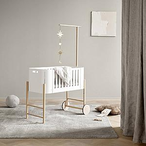 Minicuna evolutiva 42x82cm WOOD Oliver Furniture blanco-roble