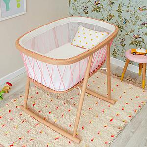 Minicuna KUMI Charlie Crane mesh-pink