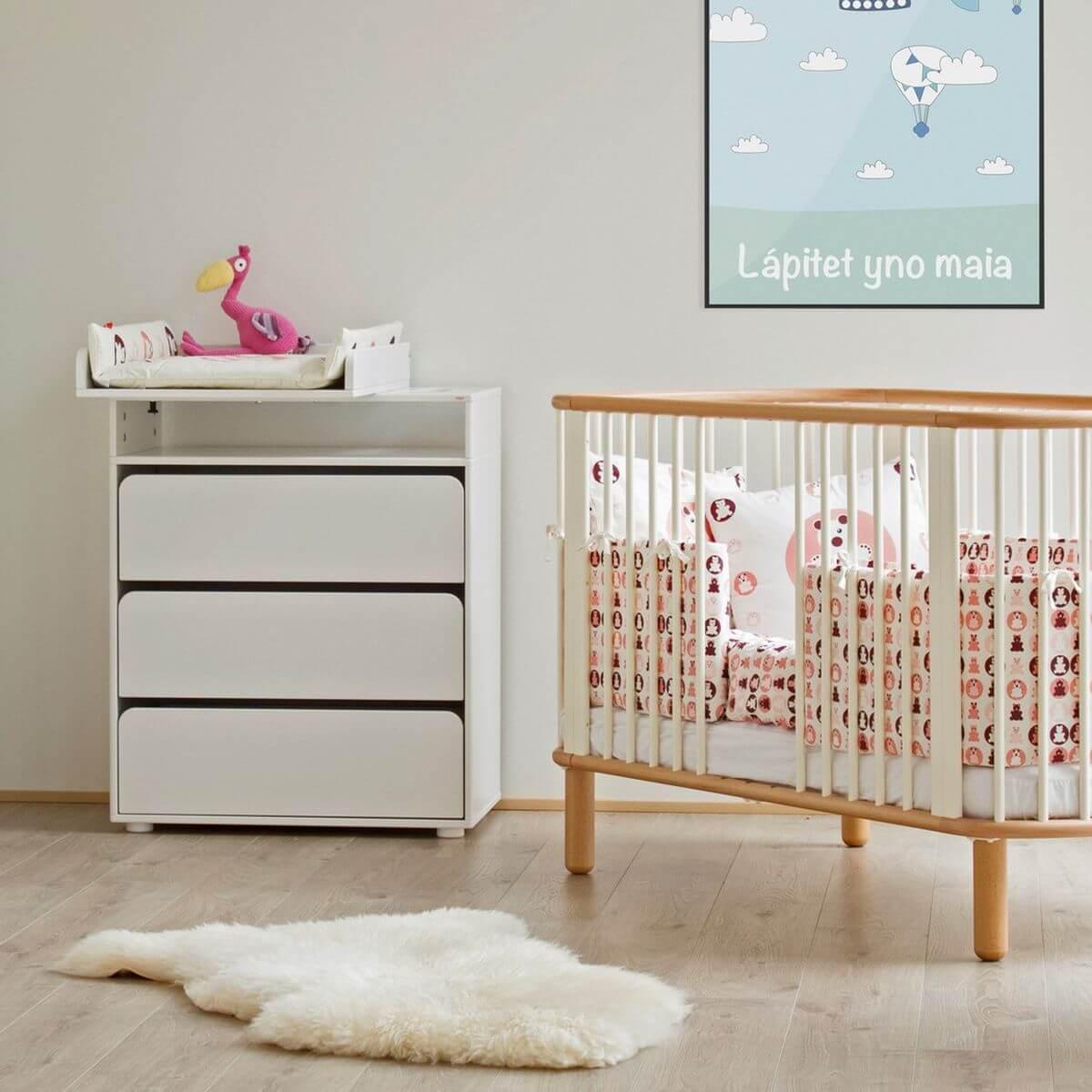 Módulo cambiador bebé CABBY Flexa blanco