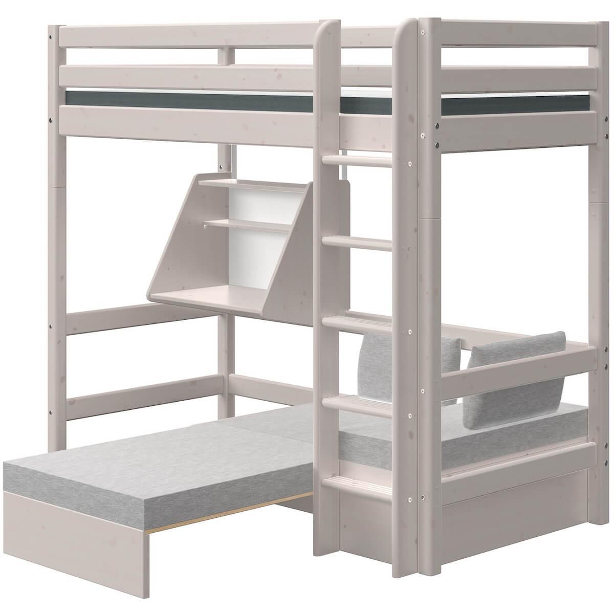 Módulo casa cama alta CLASSIC Flexa grey washed
