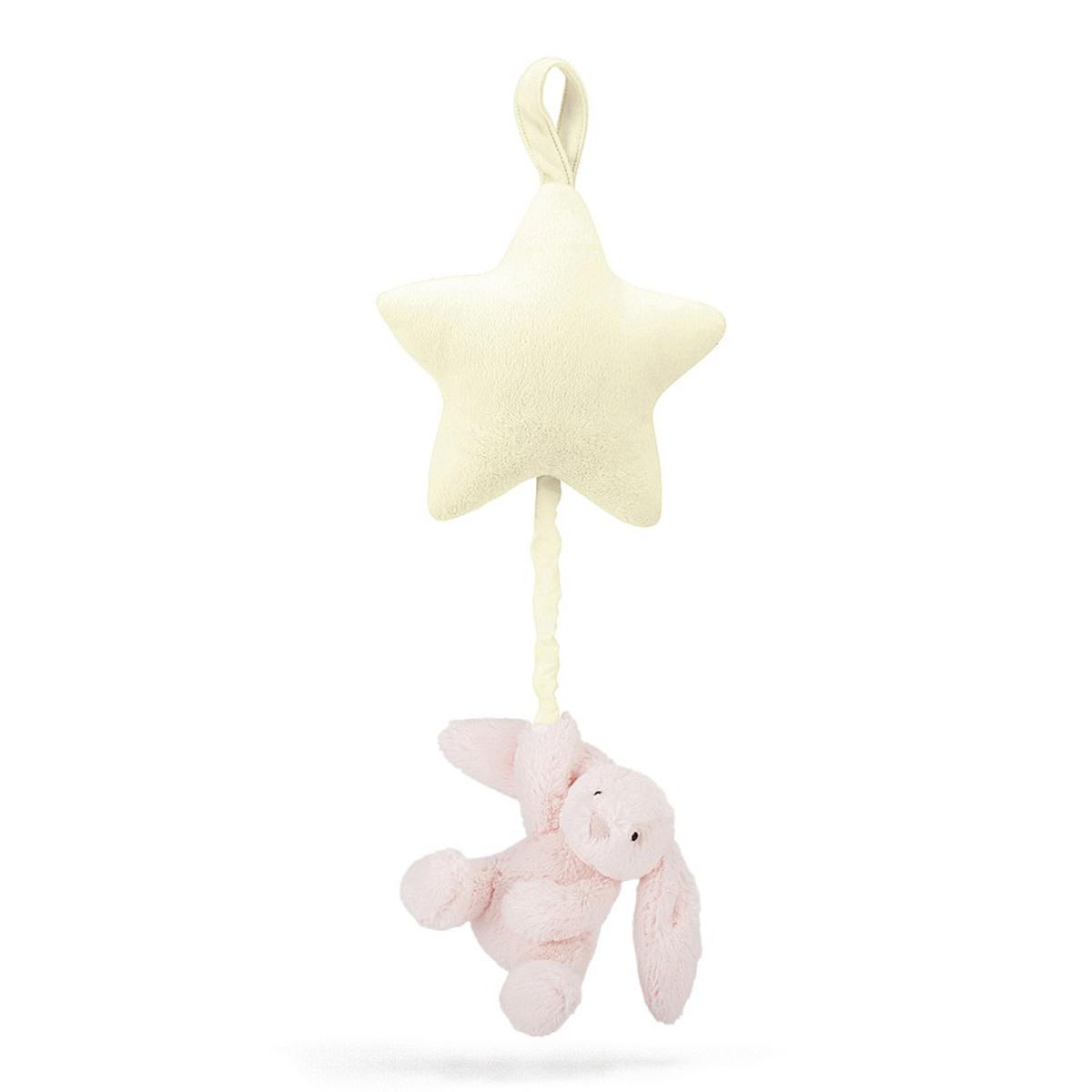 Móvil musical Conejo BASHFUL Jellycat rosa
