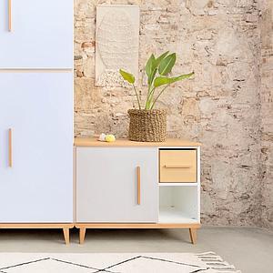 Mueble pequeño 1 puerta NADO capri blue