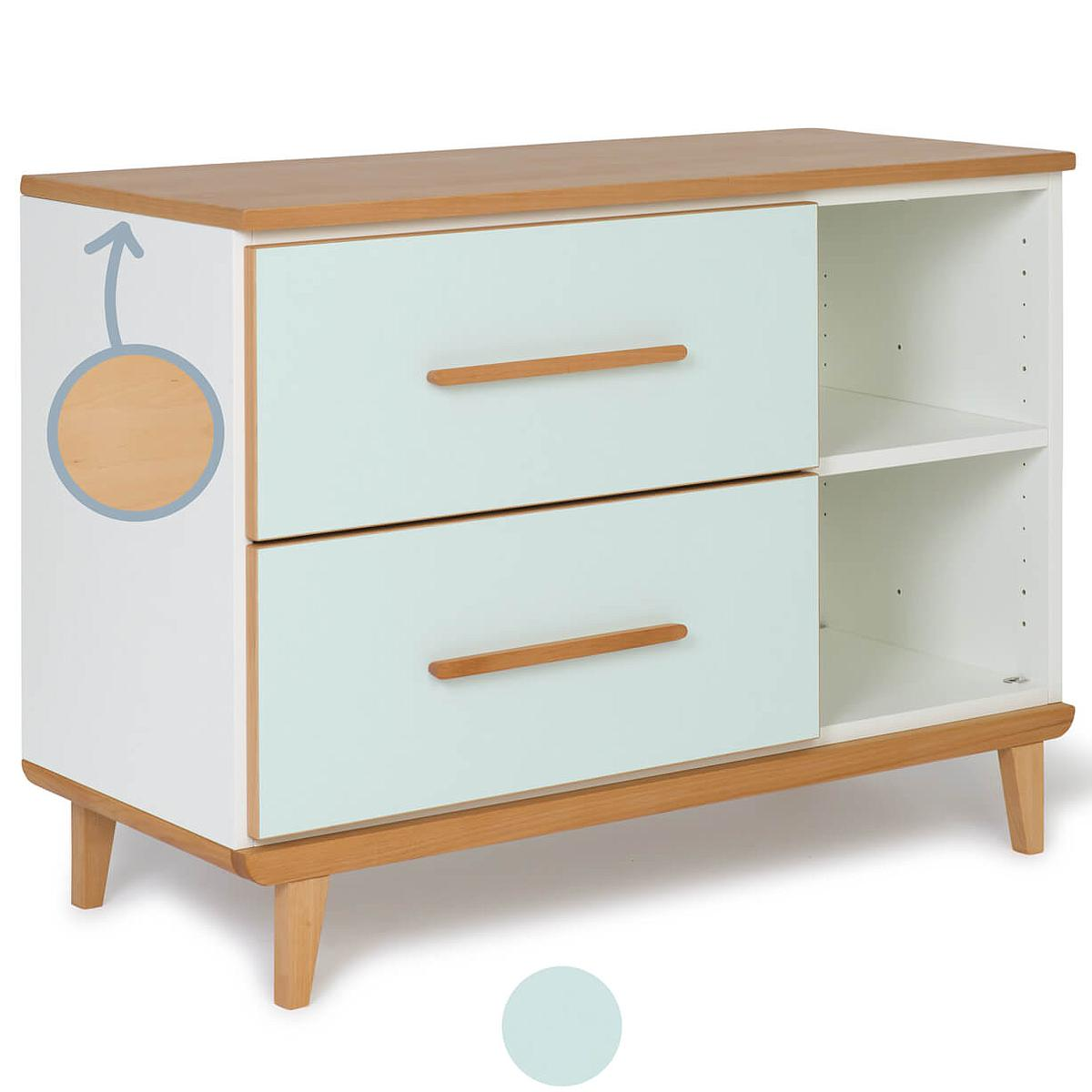Mueble pequeño 2 cajones NADO mint