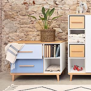 Mueble pequeño 2 cajones NADO sky blue-capri blue